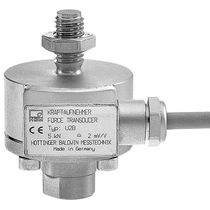 Tension/compression load cell / in-line / stainless steel / strain gauge