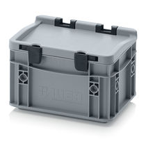 Plastic crate / stackable / with lid