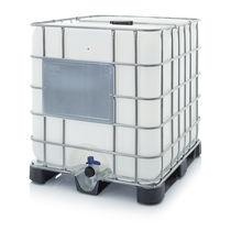 Plastic IBC container / for liquids / hazardous materials / storage