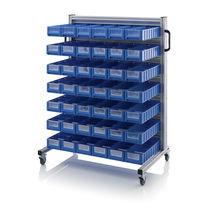 Storage cart / aluminum / shelf / container