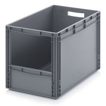 Plastic crate / storage / stacking / with handle