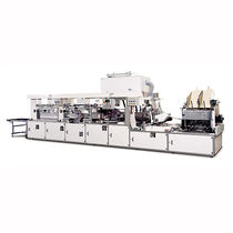 Paper bag making machine / for industrial vacuum cleaners