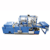 Automatic shrink wrapping machine / for cylindrical products / for heat-shrink films / with shrink tunnel