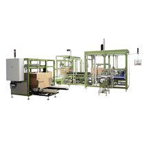 Pick-and-place case packer / vertical / automatic / for bottles