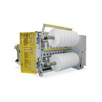 Paper slitter-rewinder / for plastic films