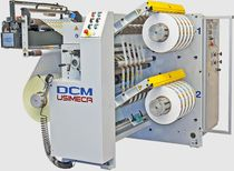 Compact slitter-rewinder / multi-purpose / for plastic films / for labels