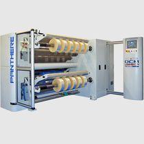 Duplex turret slitter-rewinder / for paper / for plastic films / for aluminum foil