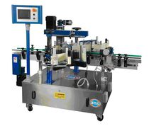 In-line labeler / automatic / front / for cylindrical products