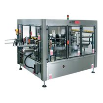 Top labeler / rotary / cold-glue / for self-adhesive labels