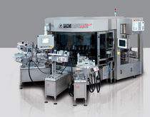 Top labeler / rotary / for self-adhesive labels / with camera vision system