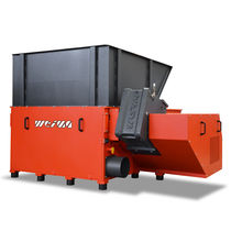 Single-shaft shredder / wood / rugged