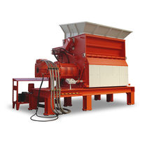 Single-shaft shredder / solid & bulk waste / metal