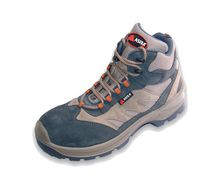 Construction safety shoes / anti-perforation / in textile / leather