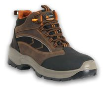Construction safety shoes / anti-perforation / leather / in textile