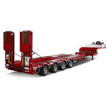 4-axle semi-trailer / flatbed / extendable / low-loader