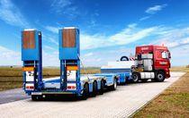 4-axle semi-trailer / equipment / low-profile