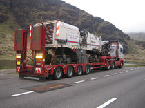 4-axle semi-trailer / flatbed / low-profile