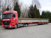 Flatbed semi-trailer / 3-axle / low-loaders