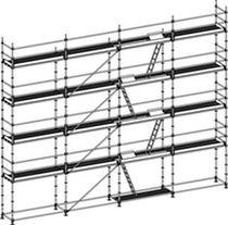 Mobile scaffolding / modular / facade