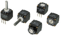 Rotary switch / selector / multipolar / PCB