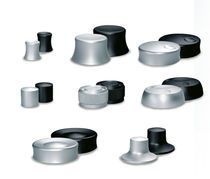 Single-pole push-button switch / aluminum / electromechanical / standard