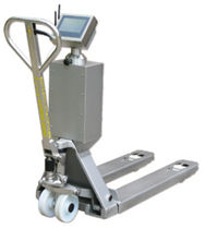 Hand pallet truck / scale / stainless steel