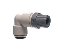 Screw-in fitting / 90° angle / pneumatic / plastic