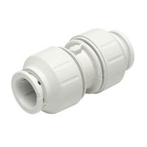 Push-in fitting / straight / hydraulic / plastic