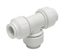Push-in fitting / T / hydraulic / plastic