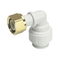 Push-in fitting / 90° angle / hydraulic / plastic