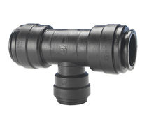 Push-in fitting / T / for compressed air / plastic