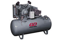 Air compressor / piston / lubricated / stationary