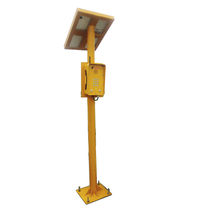 Emergency telephone support / with photovoltaic panel / steel / metal
