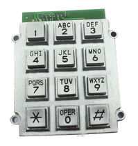 12-key keypad / panel-mount / rubber / metal