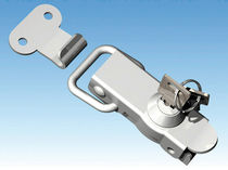 Key lock latch / lever-operated / steel