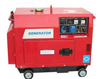 Single-phase generator set / diesel / mobile / soundproofed