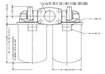 Fuel filter / basket / duplex / continuous