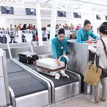 Belt conveyor / baggage / modular / for baggage handling
