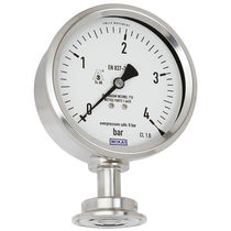 Analog pressure gauge / diaphragm / for hygienic applications