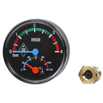 Dial pressure gauge / Bourdon tube / process / built-in