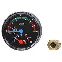 Dial pressure gauge / Bourdon tube / for liquids / process
