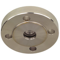 Diaphragm seal with flange connection / for pressure gauges / petrochemical / process