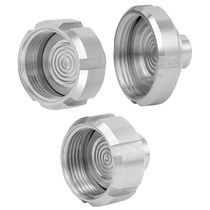 Diaphragm seal with threaded connection / for pressure gauges / food