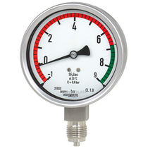 Dial pressure gauge / Bourdon tube / for SF6 / stainless steel
