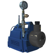 Rotary vane vacuum pump / oil-lubricated / single-stage / compact