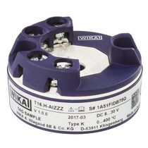 Digital temperature transmitter / DIN rail mount / probe head-mounted / thermocouple