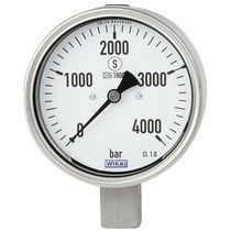 Analog pressure gauge / Bourdon tube / for oil / for water