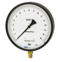 Analog pressure gauge / Bourdon tube / for gas / test
