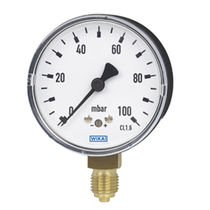 Analog pressure gauge / capsule / for gas / for vacuum