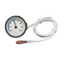 Gas expansion with capillary thermometer / analog / surface-mount / dial